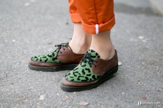 绿色豹纹潮鞋