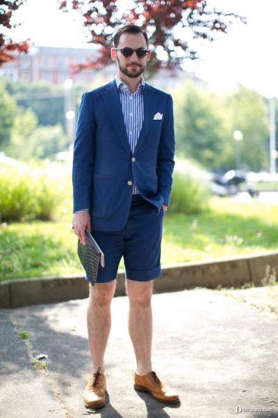 短打裤装增添绅士范儿