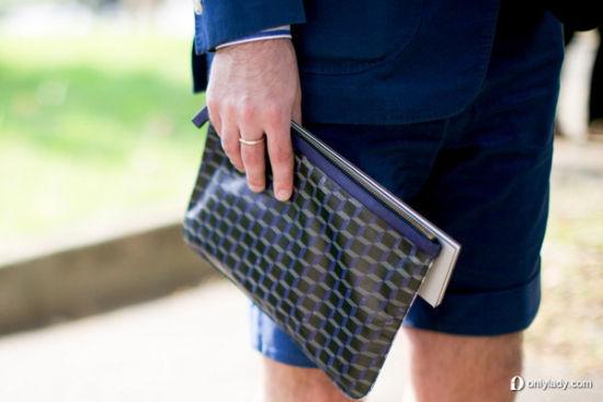 极简格纹手包