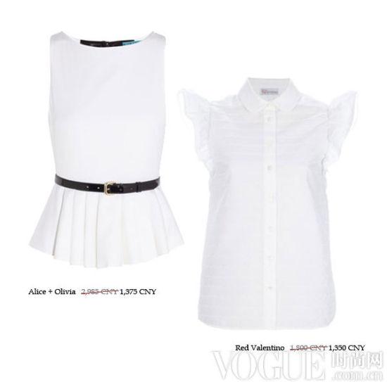 柔媚简约的白色上装