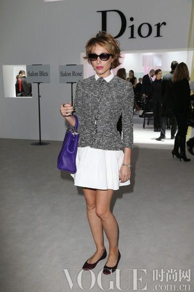 Laura Smet佩戴Dior 2013春夏秀款太阳镜