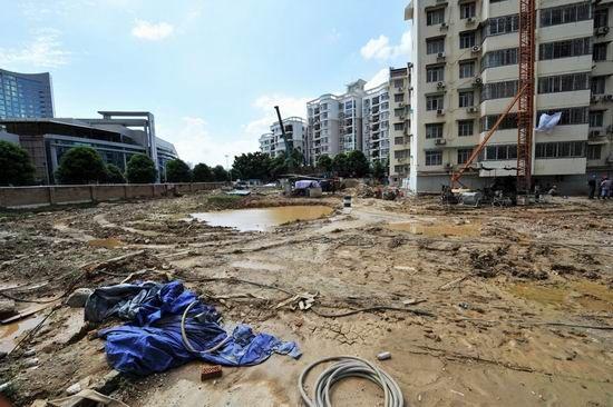 自治区侨办的职工住宅工程项目工地(6月29日摄)。