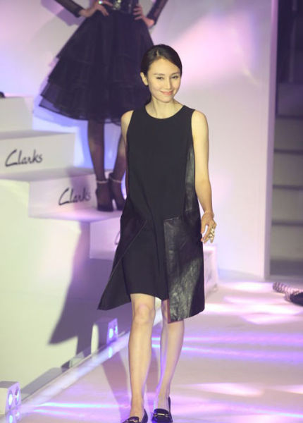 袁泉出席Clarks品牌发布会现场