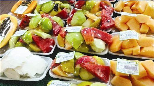超市售卖的果盘久不变色