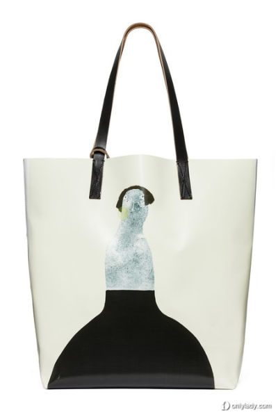 牛皮手柄的PVC材质购物袋