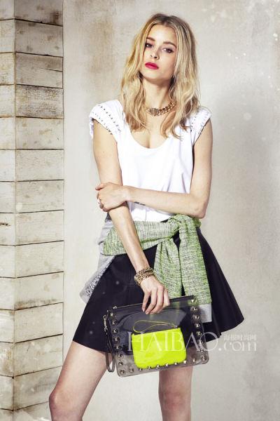 瑞贝卡·明可弗2014早春女装让加州朋克具象化