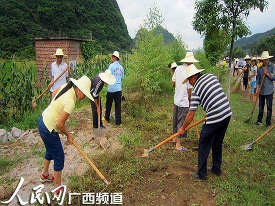 广大党员干部深入村屯与群众共同开展清洁活动