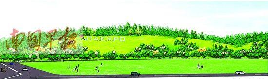 会展路边坡全景效果图。南宁市绿化工程管理处供图