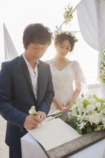 郑钧刘芸马尔代夫婚礼白色主题唯美浪漫