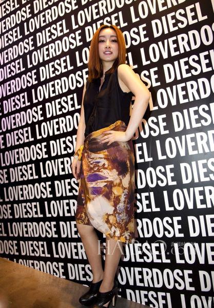 秦海璐出席Diesel在上海举行的新品香水发布活动