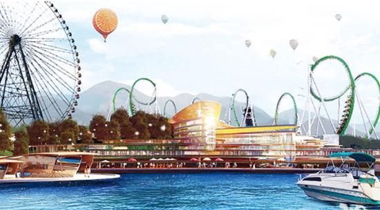 龙象谷一期主题乐园效果图