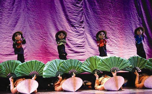 越南木偶剧《故乡的旋律》剧照。 南国早报记者 刘豫摄