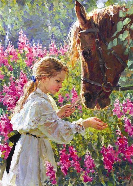 法国油画画作《温柔》。 活动主办方供图