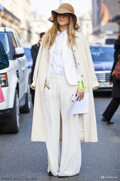 白色西服打造冷艳中性风