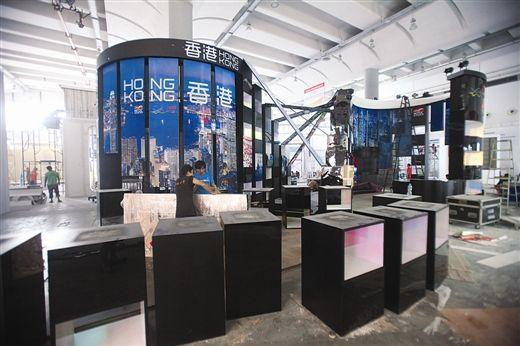 香港的展区现代气息很浓。 南国早报记者徐冰 摄