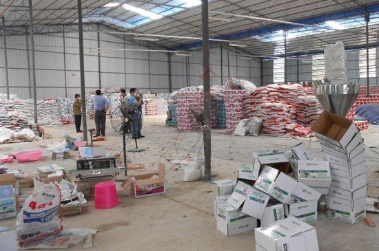 警方捣毁生产销售假冒伪劣农药窝点。南宁市公安局供图