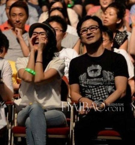 章子怡、汪峰在香港观看陈奕迅演唱会