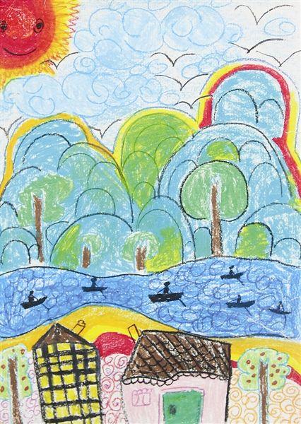 《美丽的乡村》 作者:冯丹(小学组一等奖) 获奖作品选登