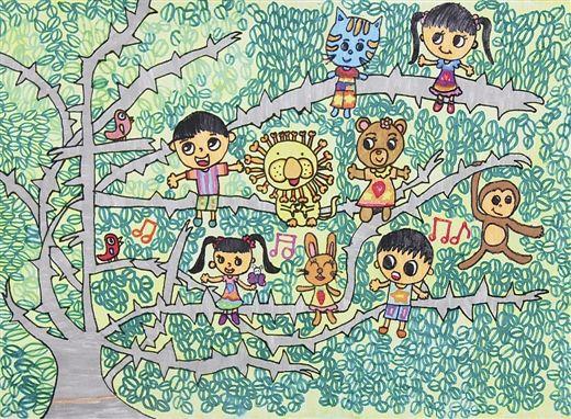 《生态和谐一家亲》 作者:黄澜 (小学组一等奖)