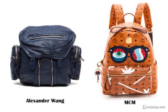 Alexander Wang、MCM 双肩包