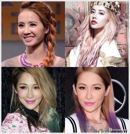 台湾女星最爱的渐变染发造型