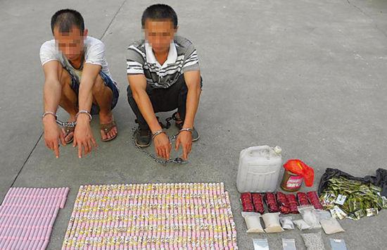 犯罪嫌疑人指认所贩卖的毒品。