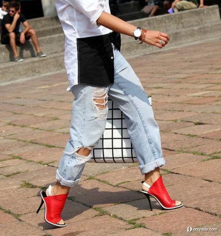 洞牛仔裤绝对是街头的最IN风景