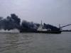 北海挖沙船起火