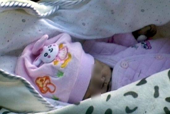 婴儿已被冻死。