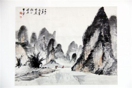 1962年黄独峰漓江写生作品