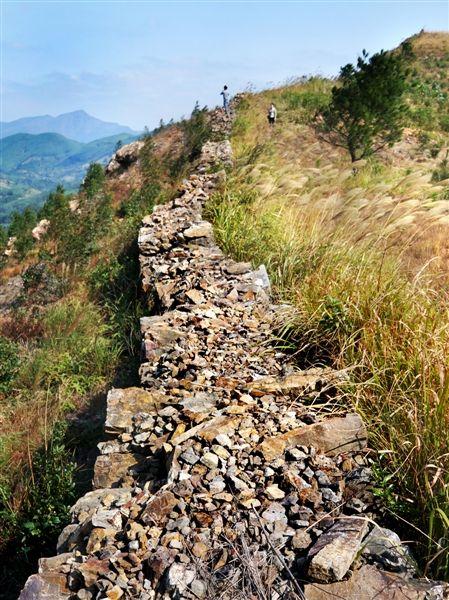 城墙顺着山势起伏绵延,很是壮观。 南国早报记者 王剑 摄