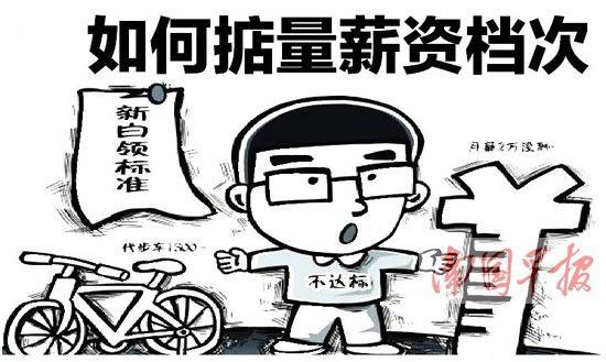 """白领""""被高薪"""" 如何掂量薪资档次(漫画)"""