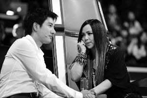 王力宏与张惠妹在《中国好声音》上互动曾引起不小的轰动,更创下高收视