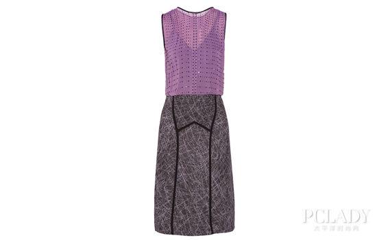 Bottega Veneta 施华洛世奇水晶缀饰真丝雪纺和缎面连衣裙 $4,334