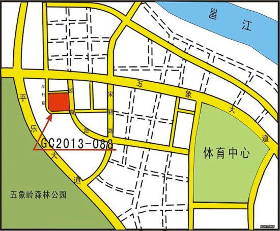 GC2013-088号地块位置示意图 图片来源于南宁市国土资源局网站
