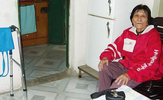 南宁北湖南社区一名70岁的独居老人。南国早报记者 全君兰 摄