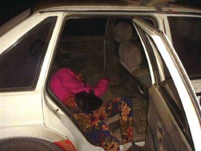 货车女车主温丽11月14日服毒现场。图片来自网络