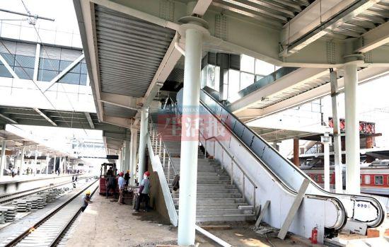 南宁火车站高铁站台。