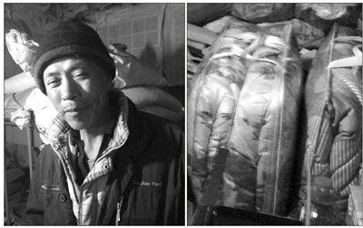 北京城市学院的几名师生给王秀青家送来了两套新被子。知道有很多人要帮助他后,王秀青一时激动语塞。.jpg