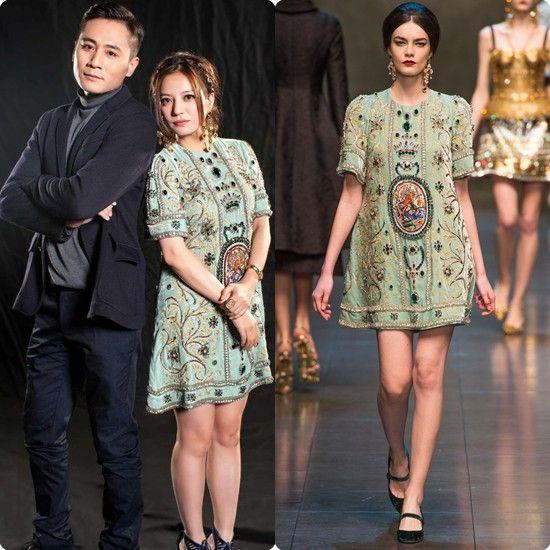 赵薇身穿Dolce & Gabbana 2013秋冬系列