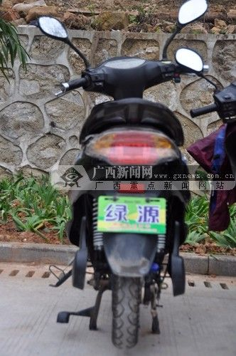 图为还未找到失主的被盗电动车。青秀山公安分局供图