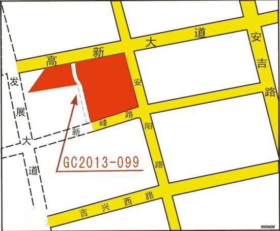 安吉万达广场所在地块位置示意图。南宁市国土资源局供图