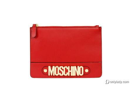 Moschino 30周年限量系列Clutch - red