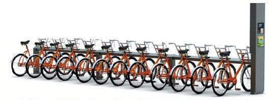 公共自行车。