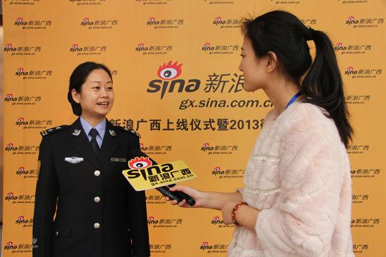 广西公安交警总队综合处副处长杨萌