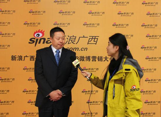 柳州两面针股份有限公司集团副总裁、大日化总经理吴堃先生对话新浪广西。梁丽贤 摄