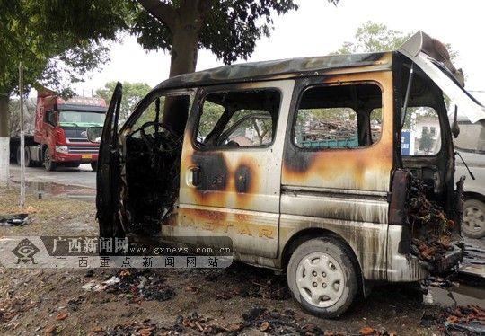 事故造成车辆起火燃烧,一人重伤。