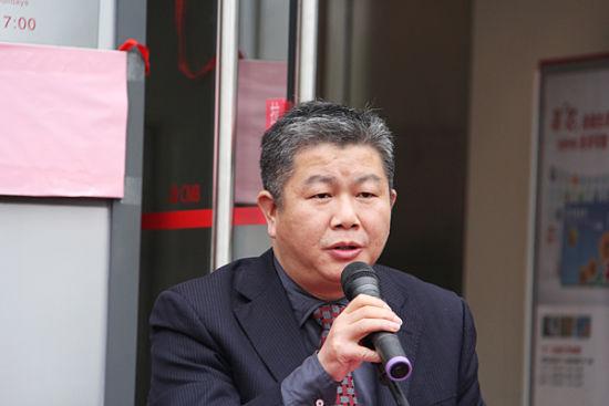 招商银行南宁分行副行长罗春林致辞。