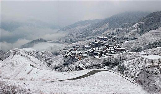 八桂雪景 (图片来源:中国天气网广西站)