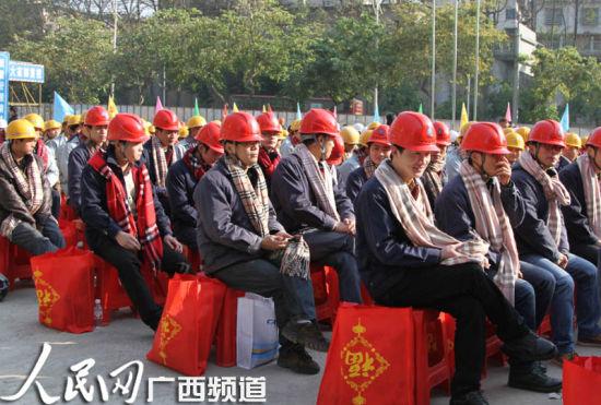 014年广西服务万名外出务工青年春节返乡主题系列活动现场。图片来源:人民网